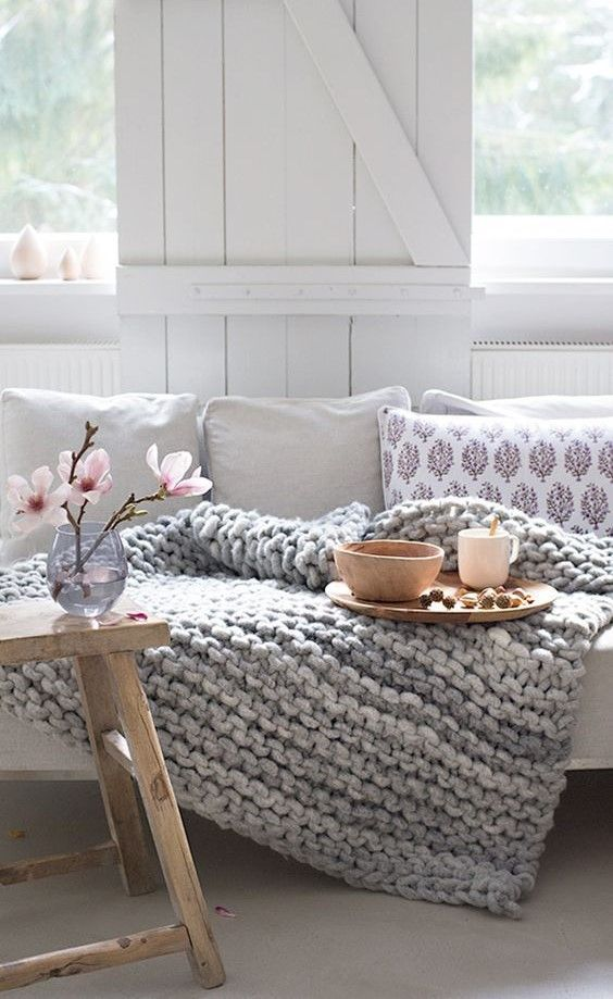 Cozy room ##knitting #blankets