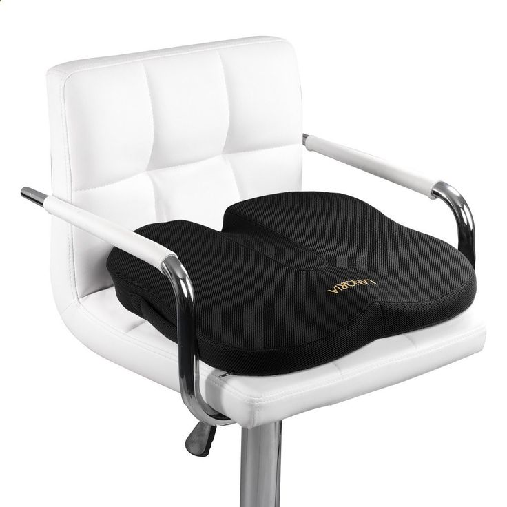 Amazon.com: LANGRIA Orthopedic Memory Foam Seat Cushion, Anti-Slip Bottom, Medium-Soft Firmness, Handle for Easy Transport, Chair and Car Flat Seat Cushion for Back, Coccyx, Tailbone, Sciatica Pain Relief, Black: Home & Kitchen