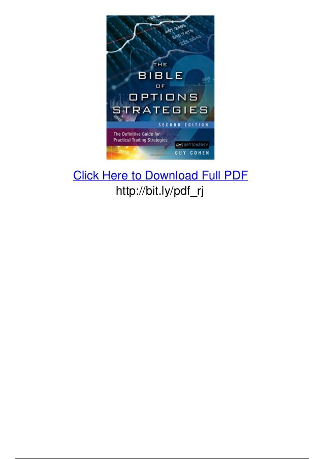 The Bible Of Options Strategies The Definitive Guide For Practical Trading Strategies Pdf Download