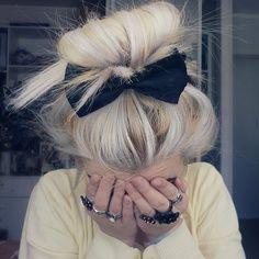 Black Bow Hair Clip