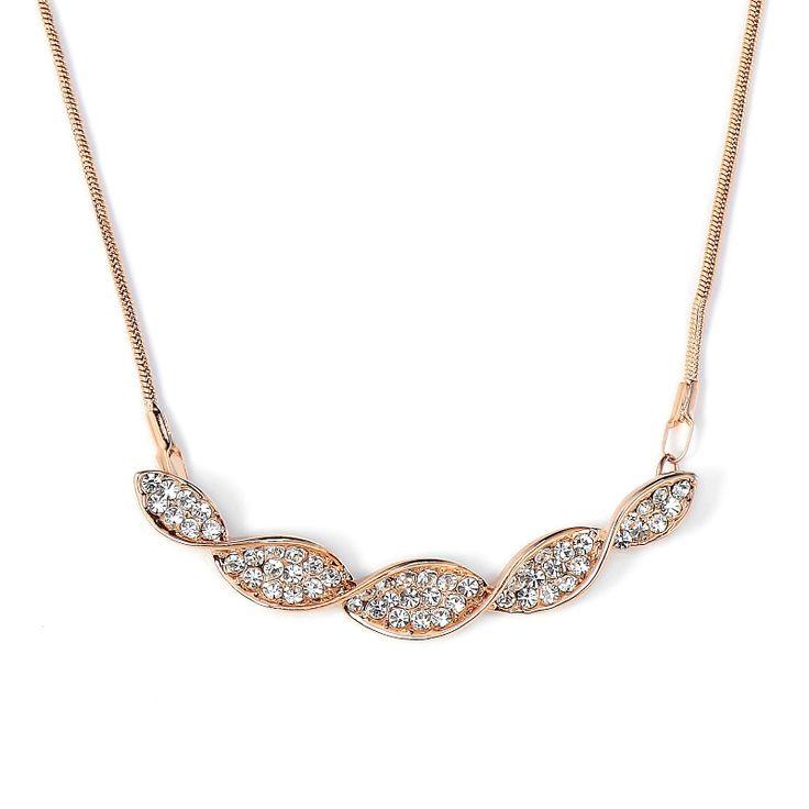 Luxusný náhrdelník s príveskom v tvare ozdobenej vlnovky