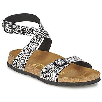 Animal print and straps everywhere--super trendy sandals by Papillio @rubbersole ! | See more about Birkenstock, Animal Prints and Hiking Sandals.