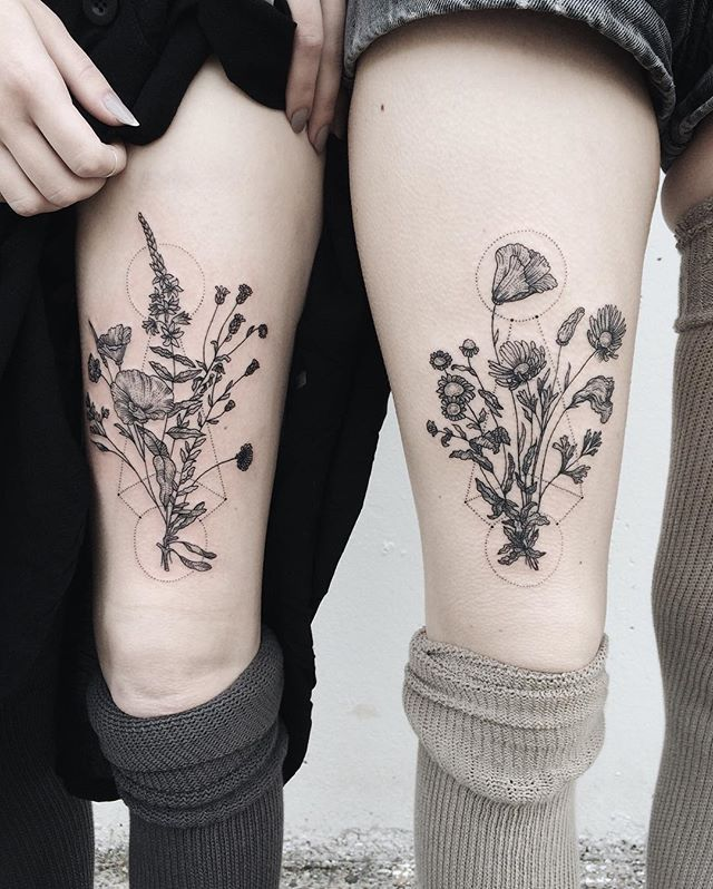 45 Best Images About Thigh Tattoos On Pinterest: Best 25+ Pair Tattoos Ideas On Pinterest