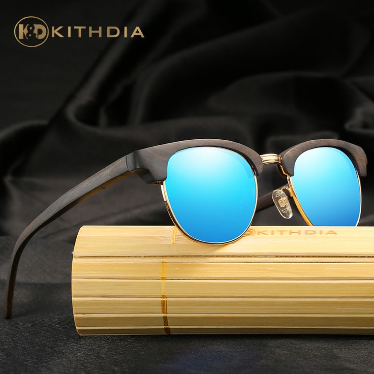 ==> [Free Shipping] Buy Best KITHDIA New Real Wood Sunglasses Bamboo Men Women Brand Designer Square Sun Glasses Gafas de sol oculos masculino eyewear Online with LOWEST Price | 32747897093