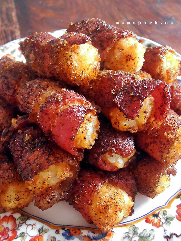 Sweet Bacon Tator Tots #appetizers