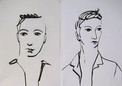 Annemarie Fledderus Portret, O-indische inkt/penseel