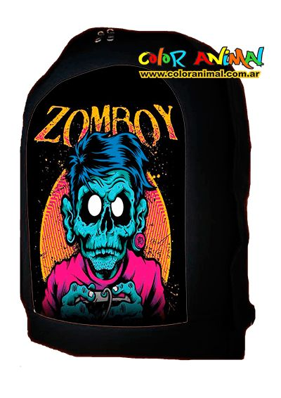 Mochila Zomboy Logo - Comprar en Color Animal