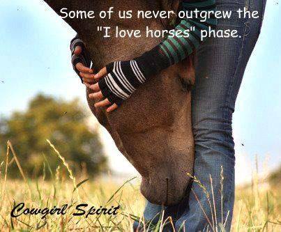 Some of us never outgrew morals and modesty. Enjoying the little things and appreciating our blessings. Most of all some of us never outgrew our passion of horses
