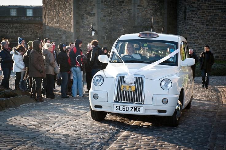 White Taxi - Elemental Weddings - Scottish wedding photography