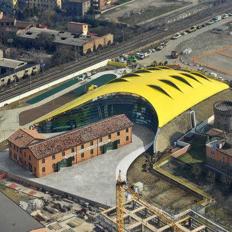 Ferrari automotive museum designed by the late Czech architect and Future Systems founder Jan Kaplický has opened in Modena, Italy.