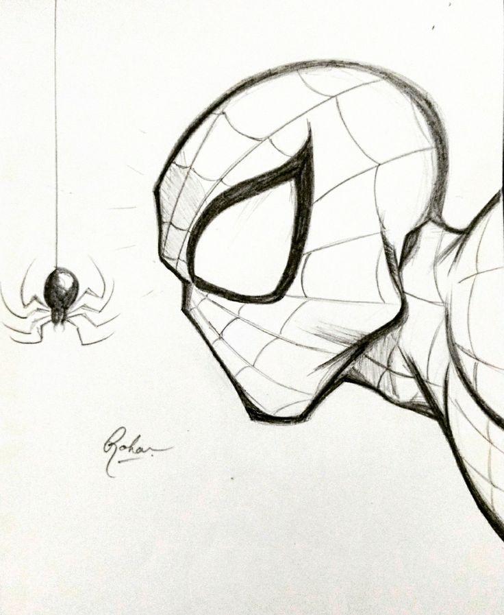 рисунки карандашом человек паук легко руки безупречным