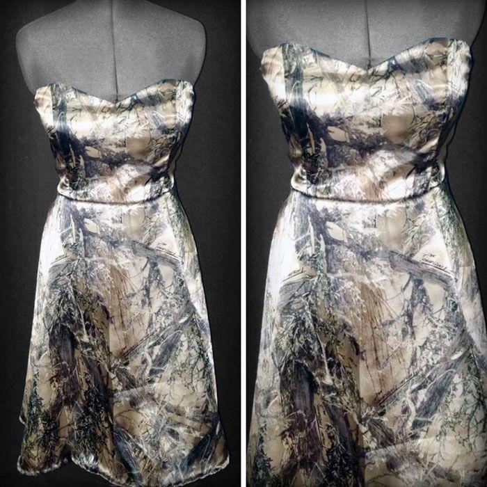 Budget-friendly Camo Bridesmaids Dress