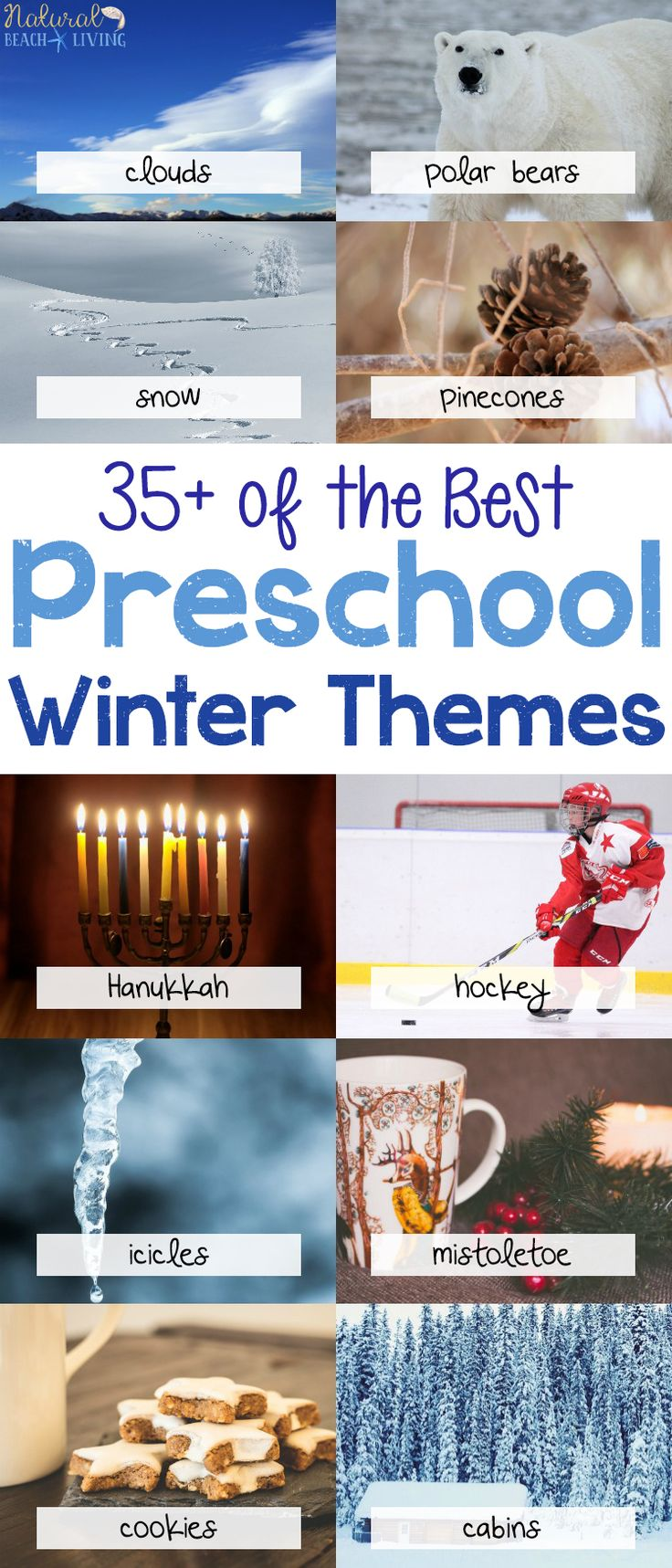 35+ Best Winter Preschool Themes, lesson plans, activities, and printables. Perfect for weekly or monthly themed learning or unit studies. Preschool book lists, preschool activities, art, and crafts. Winter preschool themes include literacy, math, STEM ideas and more. #preschool