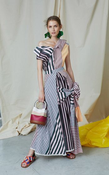 The designer: It's a new era under recently-minted creative director Francesco Risso (who spent ten years at Prada). Recognized by her boxy shapes and artsy beat, the Marni woman is enjoying a dose of fresh femininity for Resort.   This season it's about: Large bows, mixed micro florals and a palette of pinks and blues usher in a newfound prettiness, without compromising Marni's cool factor.