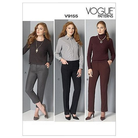 Buy Vogue Women's Tapered Trousers Sewing Pattern, 9155 Online at johnlewis.com