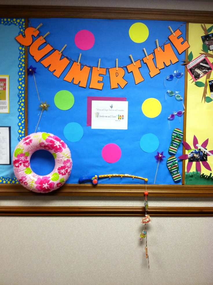 a fun way to create a bulletin board with (3D) items ...