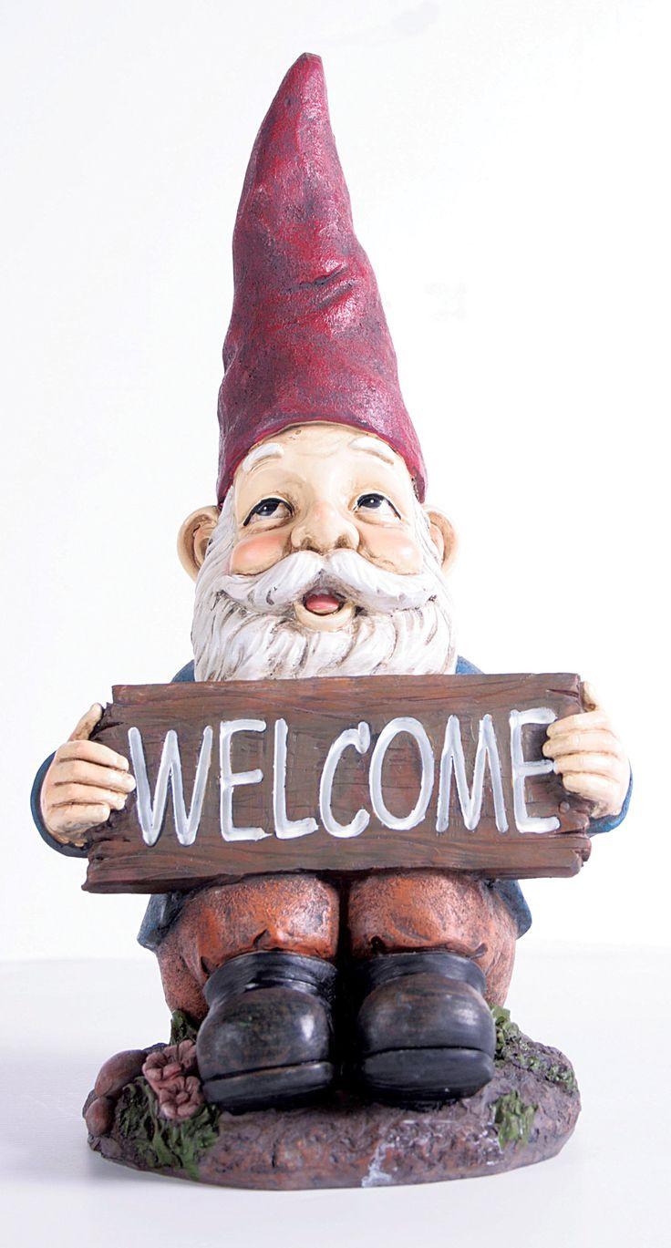 Midi Welcome Gnome Statue