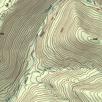 how to draw a cross section from a topographic map