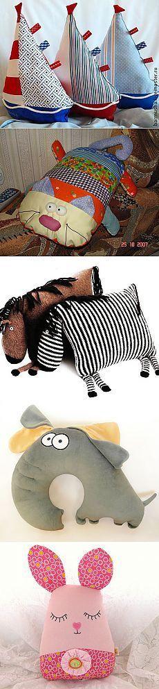 Подушки-игрушки своими руками (выкройки и схемы вязания)