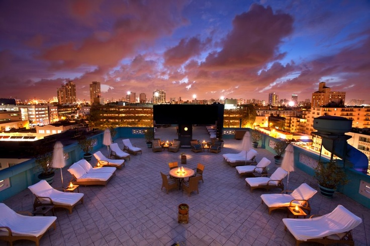Rooftop Of Park Central Hotel Miami A Miami Wedding