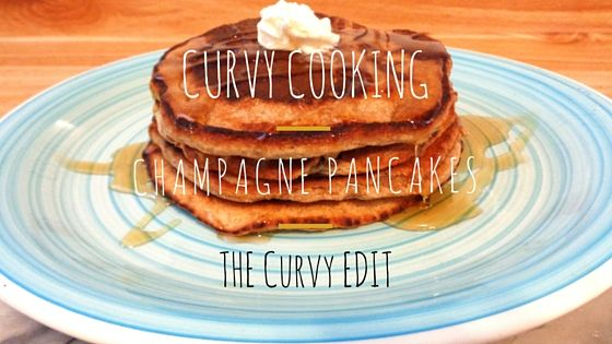 Curvy Cooking: Champagne Pancakes. Got any left over Champagne? Well, this recipe is for you! // Te sobró Champán? Pues, esta receta es para tí!