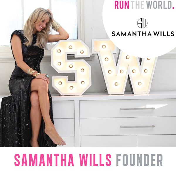 Run The World Female Entrepreneur Conference - Oct 25 2014 Melbourne Australia.   Samantha Wills, Founder of Samantha Wills jewellery & accessories company www.samanthawills.com  www.runtheworld.com.au