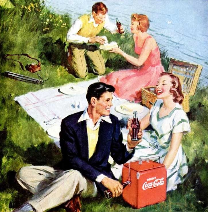 It's summer.  Have a Coke!  (1949.)