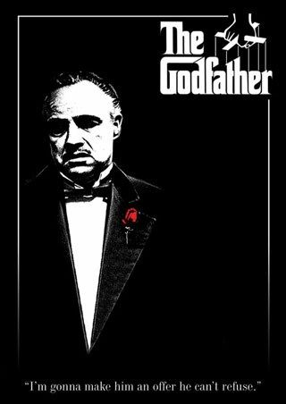Don Vito Corleone with a Red Rose - The Godfather