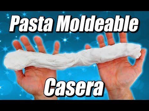 ▶ Pasta moldeable casera (porcelana fría o pasta francesa) Fimo casero, cómo se hace - YouTube