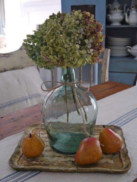 Chateau Chic - Dried Hydrangeas in Bottle