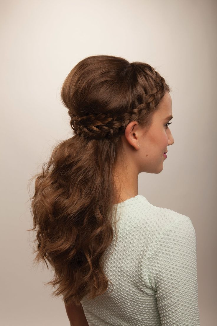 Half Crown Braid  •  Free tutorial with pictures on how to style a crown braid in under 10 minutes