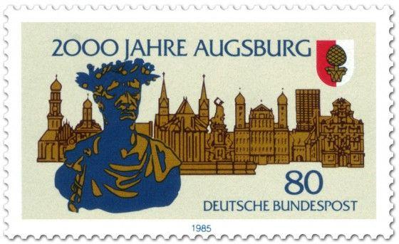 Briefmarke: Kaiser Augustus Stadt Augsburg