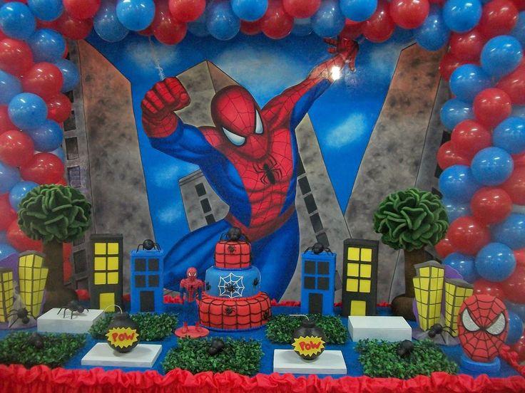 Artigos de festa homem aranha