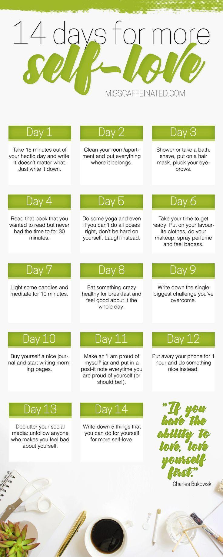 Liebst du dich selbst? Ich habe eine Herausforderung geschaffen, die Sie in 14 Tagen für mehr tun können