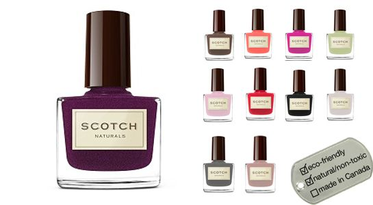 NEW Scotch Naturals Watercolors Natural Nail Polish for Winter 2012 - Widow Woods Nightcap (shimmering aubergine), Smoky Martini (steele grey), Roasted Mellow (lambs wool) www.lavishandlime.com/Scotch-Naturals-Watercolors-Natural-Nail-Polish-p-1109.html#