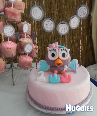 ... cake topper handmade. Hootabelle cake bunting strung above the cake