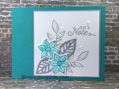 Falling flowers, May flowers framelits, Stampin' Up!, BJ Peters, #fallingflowers, #mayflowersframelits, #stampinup, #stampinbj.com, #bjpeters