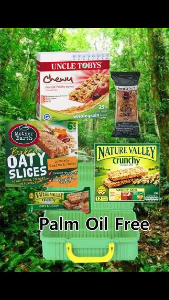 palm oil bars muesli sustainable food orangutans trees uploaded user