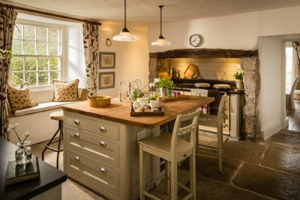 The kitchen with traditional Aga