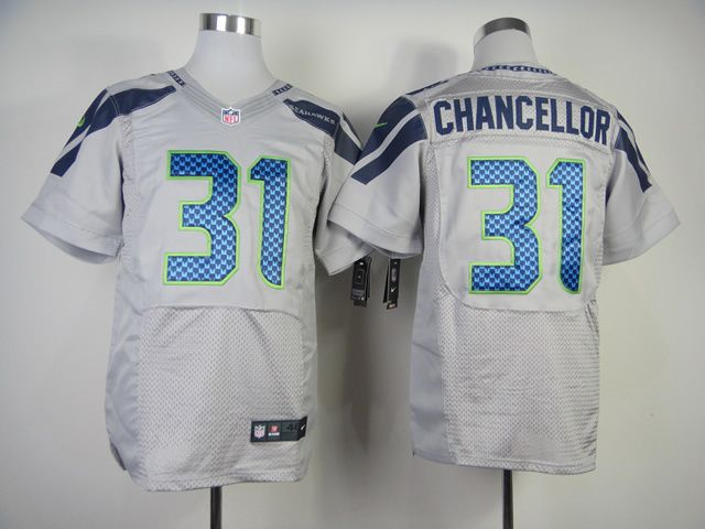 mens nfl seattle seahawks 31 kam chancellor grey elite jersey nike seattle seahawks jersey