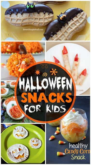 Halloween Snacks for Kids! Great ideas that are easy to make! #DIY