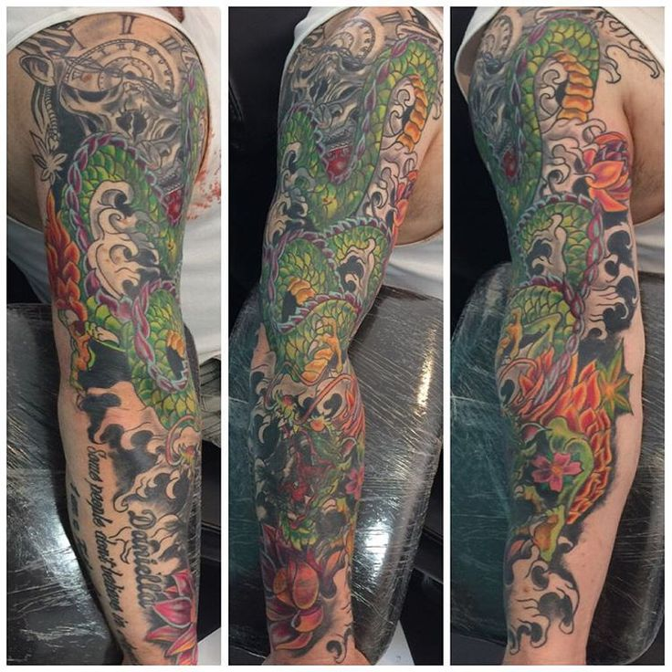 A bit more done on this full dragon sleeve tattoo I'm working on at the moment #rockninktattoo #dragontattoo #dragonsleeve #fullsleevetattoo