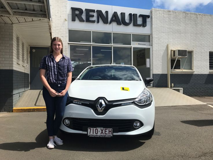 Madi picking up her new Renault Clio...