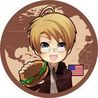 Chibi Anime Gallery: Hetalia Axis Powers Chibi Button - Americans And Historical
