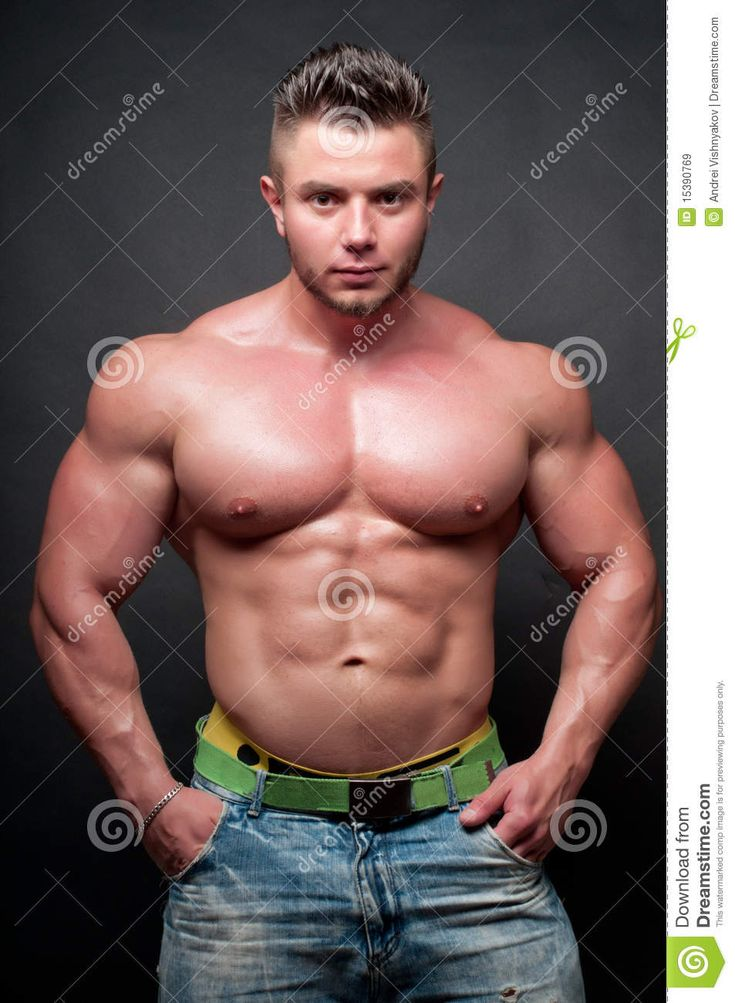 Body building men fuck pussy