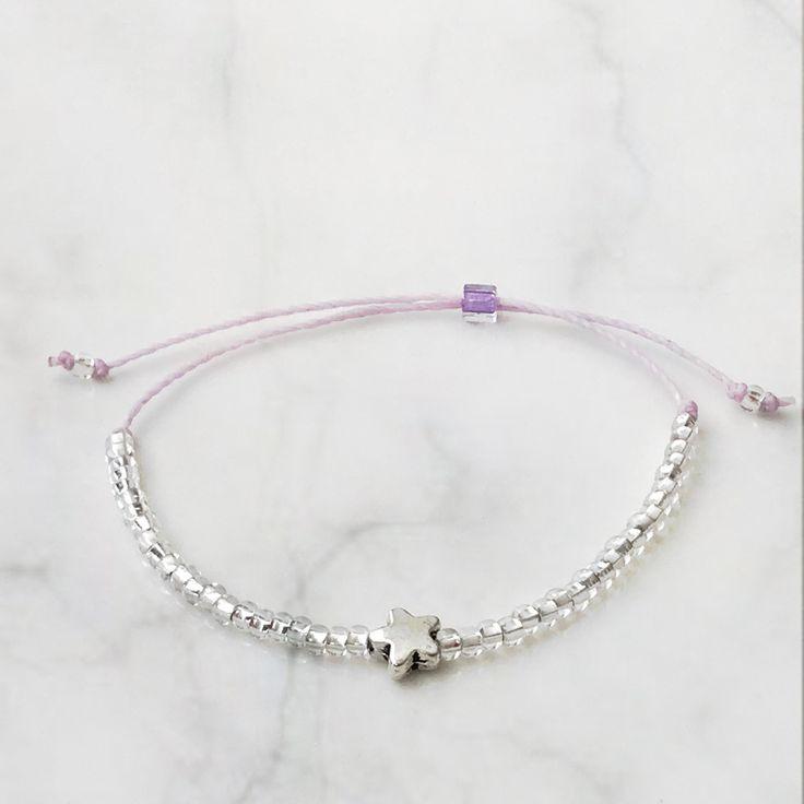 Lucky Star Bracelet, Mauve color