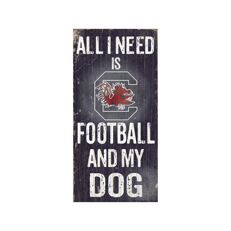 South Carolina Gamecocks Football & My Dog Sign, Multicolor