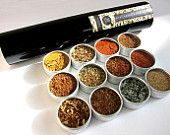 gourmet BBQ rubs kit for chicken and pork - gift set of 6 - a great gift for Dad. $18.00, via Etsy.