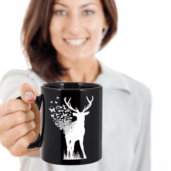Unusual Gift Deer Butterfly, Deer with Butterflies Coffee Mug Limited Time OnlyThis item is NOT available in stores.We create fun coffee mugs that are sure to please the recipient. Tired of boring gifts that don't last? Give a gift that will amuse them for years!A GIFT THEY WILL ADORE - Give them a mug to shout about!