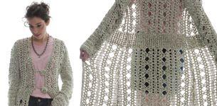 Abrigo largo tejido: Magazine Paula, Largo Tejido, Abrigo Es, Agujas Moda, Of Agujas, Crochet Dos, Women Crochet, Women'S Clothing, Abrigo Largo